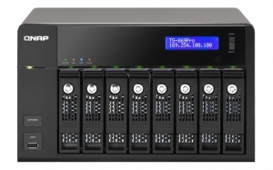 QNAP's 869 desktop  NAS (network attached storage) system